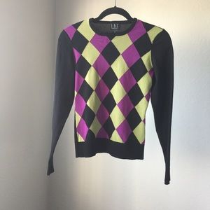 INC argyle sweater